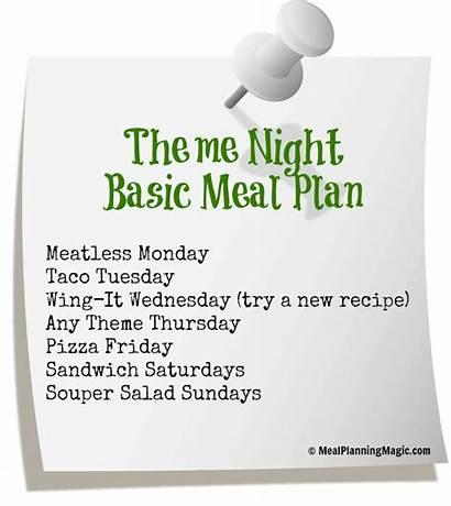 Meal Weekly Plan Dinner Themed Basic Break