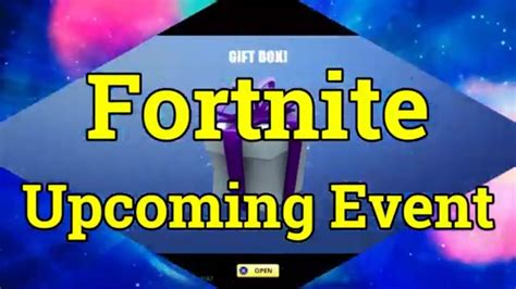 fortnite upcoming event youtube