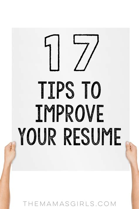 17 tips to improve your resume
