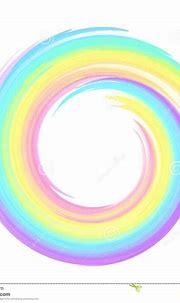 Rainbow Pastel Colors Vector Swirl Frame Stock Vector ...