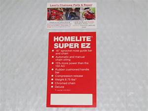 Nos Homelite Super Ez Automatic Chainsaw Price Tag