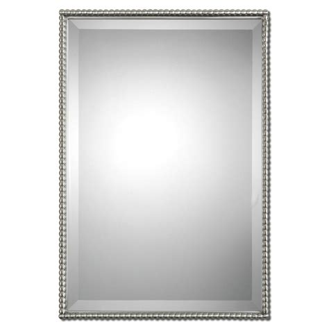 oval mirror frames brushed nickel sherise rectangle mirror uttermost wall