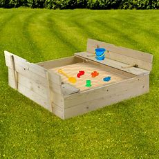 Sandkasten  Sandspielkasten Aus Holz Mit Sitzbänken