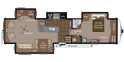 montana 5th wheel floor plans 2013 2012 keystone rv montana big sky fifth wheel series m 3400
