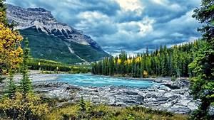 Landscape, Mountain, River, Blue, Water, Forest, Cloud, Desktop