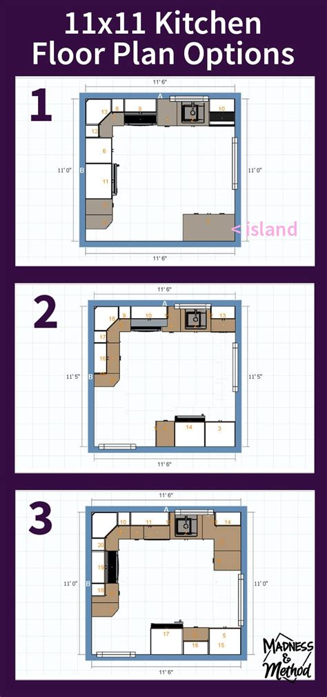 11 x 11 kitchen floor plans 11 x kitchen floor plans thefloors co 8962