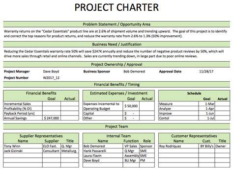 dmaic process improvement excel   templates