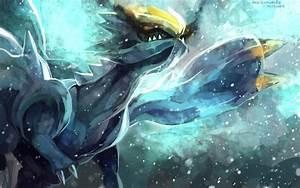 Pokemon dragon kyurem purple kecleon wings yellow eyes ...