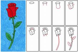 Easy Things To Draw Step By Step Flowers Drawing Ideas For ...