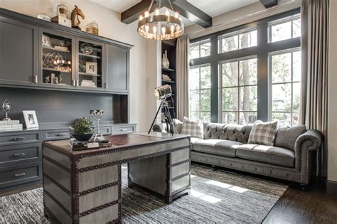 restoration hardware metal desk lincoln ct transitional home office dallas by