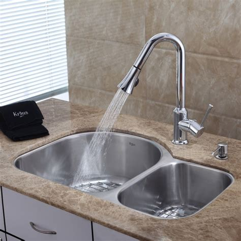 White Kitchen Sink With Stainless Steel Faucet by White Kitchen Sink Faucet Lowes Wow