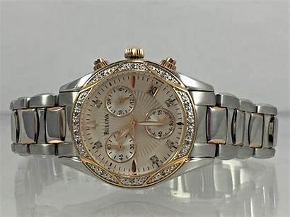 Bulova Chronograph Tone Diamond Dial Watches Anabar