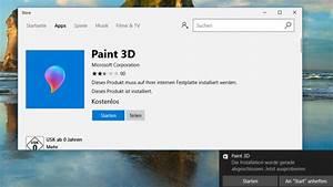 Windows Store Geht Nicht : nicht selbsterkl rend paint 3d deinstallieren bilder screenshots computer bild ~ Pilothousefishingboats.com Haus und Dekorationen
