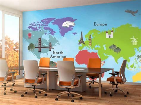 Фотообої Карта світу континенти купити на стіну • Еко Шпалери