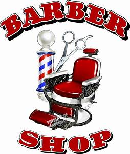 Barber Shop Men's Hair Cuts Care Vinyl Sign for Window