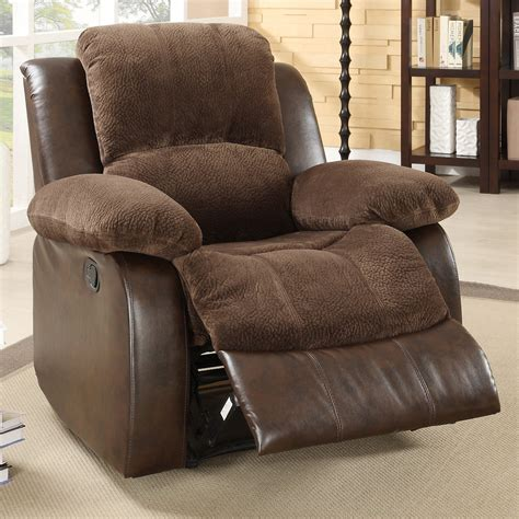 Oversized Recliners by Homelegance Hartdell Microfiber Faux Leather Oversized