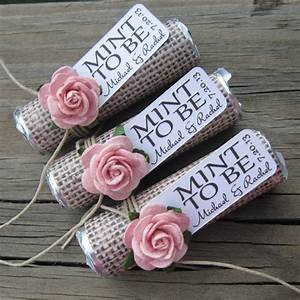 wedding favors set of 100 mint rolls quotmint to be With wedding favors mint to be
