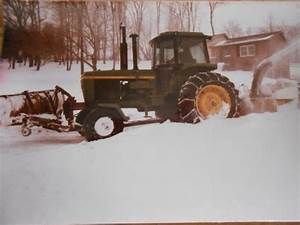John Deere 4440 Snow Plow