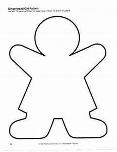 Gingerbread girl pattern | Theme: Gingerbread | Pinterest