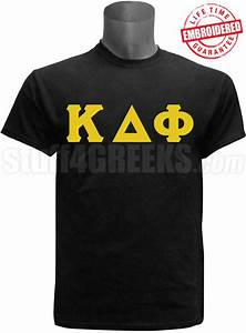 kappa delta phi greek letter t shirt black embroidered With kappa delta stitched letter shirts