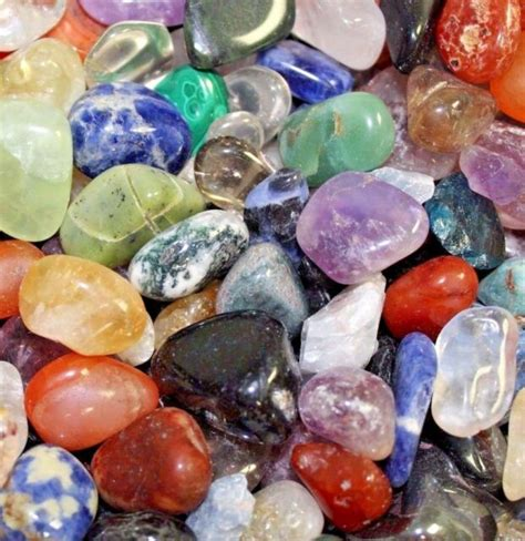 bulk lot 1 2 lb tumbled gemstones crystals mix rocks stones grade a ebay