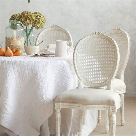 shabby chic furniture st louis a lovely french inspired shabby chic dining space with a king louis style antique white cane