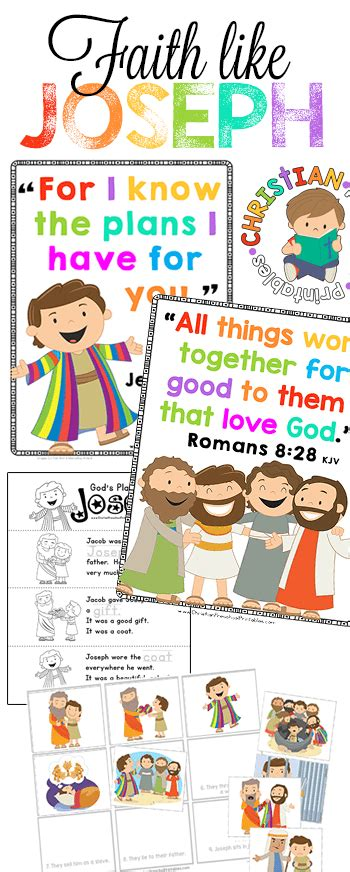 joseph bible printables christian preschool printables