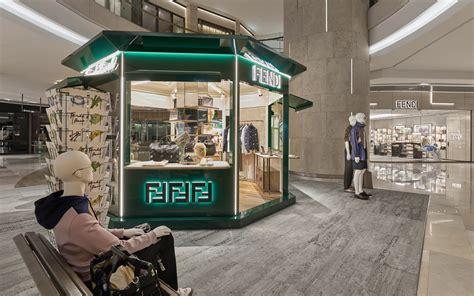 kiosk stand singapore newsstand inspired pop up kiosk marks opening of fendi