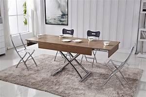 Table Basse Qui Monte : table basse relevable avec rallonges ~ Medecine-chirurgie-esthetiques.com Avis de Voitures