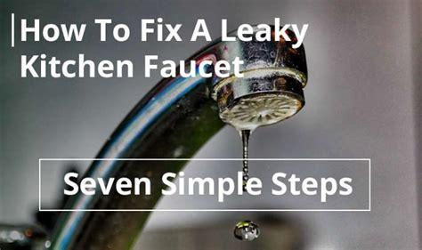 fix  leaky kitchen faucet   simple steps