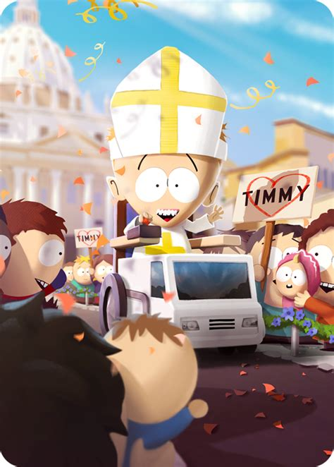 These include the south park characters you've come to know and love as well. Pope Timmy   South Park Phone Destroyer Wiki   FANDOM powered by Wikia