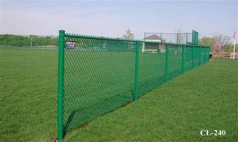Green Vinyl Coated Chain Link Fences