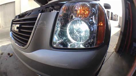 how to install replace hid headlights 06 14 gmc yukon hid
