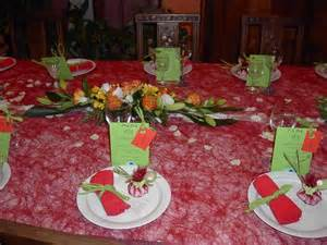 photo de decoration de table pour communion