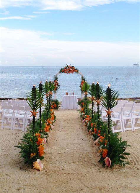 tropical beach wedding key west wedding flowers ceremony