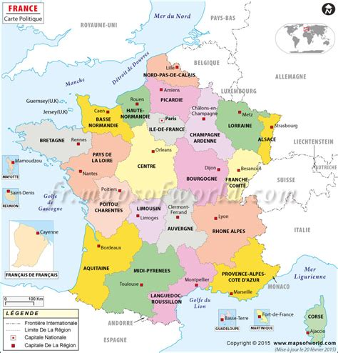 Carte De Avec Villes Principales Et Départements by Infos Sur Carte De La Avec Ses Villes Principales
