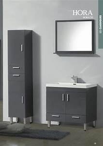 Meuble De Salle De Bain Gris : armoire salle de bain gris laque ~ Preciouscoupons.com Idées de Décoration