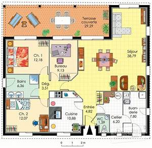 maison familiale detail du plan de maison familiale With plan de maison 110m2 4 maison accessible detail du plan de maison accessible