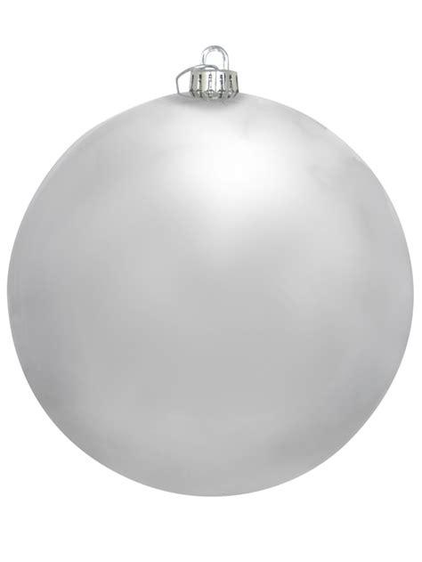 large shiny silver bauble decoration 20cm large decor