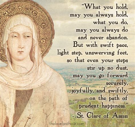 st clare of assisi st clare quotes quotesgram