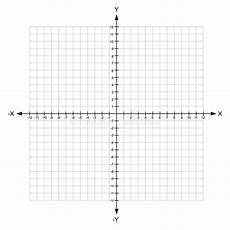 Blank X And Y Axis Cartesian Coordinate Plane With Numbers Stock Vector  Illustration Of Number