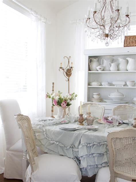 shabby chic style dining room design ideas decoration