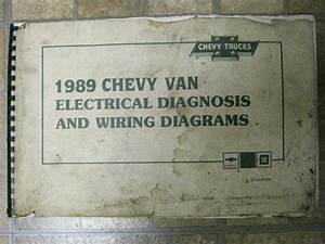 Buy 1989 Chevrolet Chevy Van Electrical Diagnosis  U0026 Wiring Diagrams Original C143 Motorcycle In