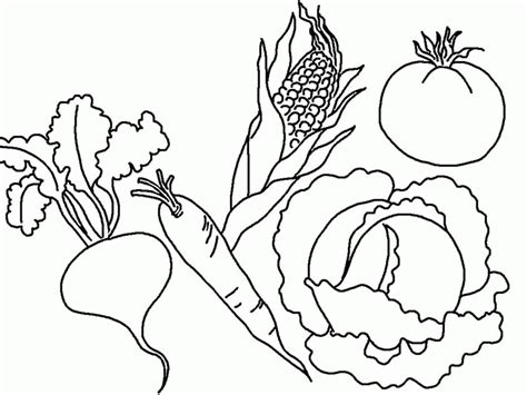 Fruit And Vegetable Coloring Page