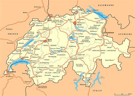 Carte Suisse by Carte De Suisse Arts Et Voyages