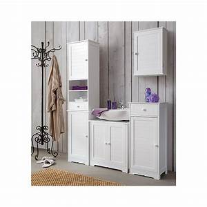 Meuble Lavabo Salle De Bain : meuble lavabo salle de bain blanc ~ Dailycaller-alerts.com Idées de Décoration