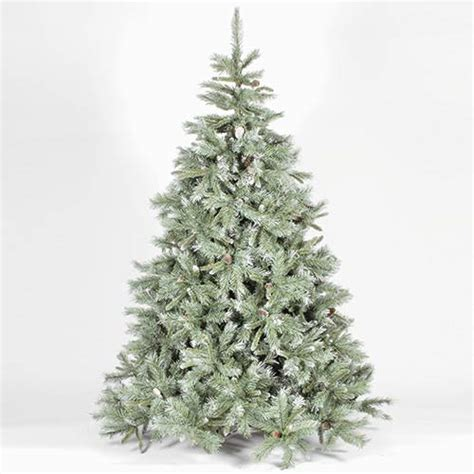 6ft frosted christmas tree 4ft 120cm frosted emerald fir blue green artificial 3593