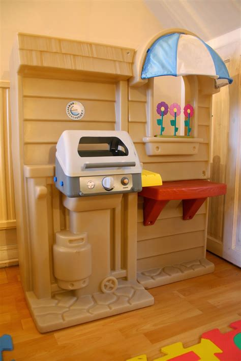 tikes kitchen with grill our bargain buy tikes inside outside cook n grill