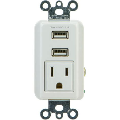 hotel ls with outlets and usb ge 2 1 amp 1 outlet and 2 usb port in wall receptacle