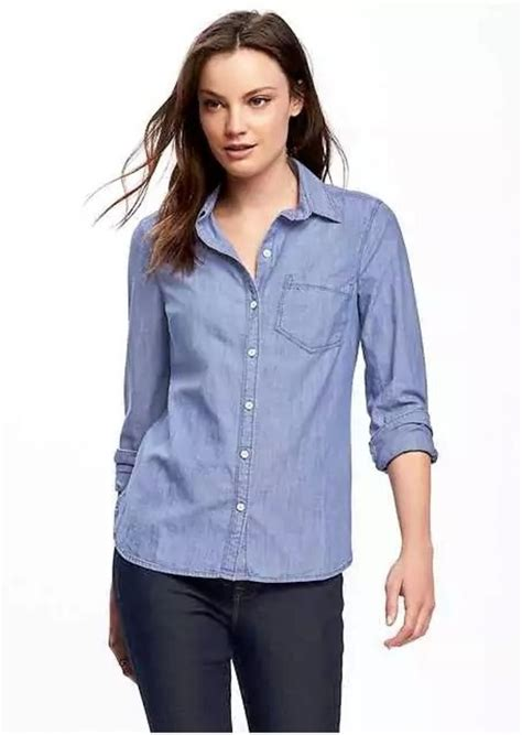 navy classic chambray shirt for casual shirts